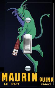 LE PUY Vintage Liquor Poster Switch Plate (single