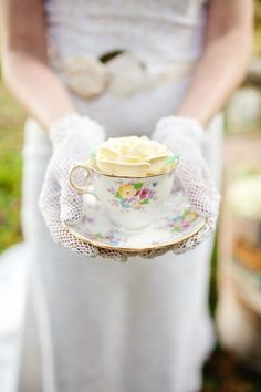 white gloves and tea cup - Bing Images