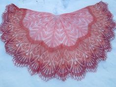 Red Color, Free Pattern, Knitting Patterns, Wraps, Tapestry, Crochet, Knitted Shawls, Inspiration, Ideas