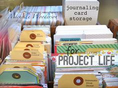 Mish Mash: Workspace Wednesday...journaling card storage for Project Life