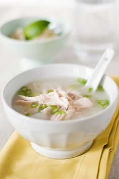 // chicken and rice soup with lemongrass
