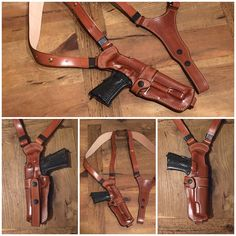 Custom leather holster for Colt Government pistol