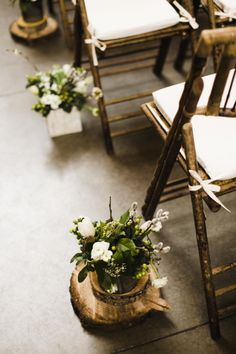 Potted plants: http://www.stylemepretty.com/washington-weddings/seattle/2015/02/03/cozy-and-intimate-seattle-wedding/ | Photography: Angela & Evan - http://www.angelaandevan.com/