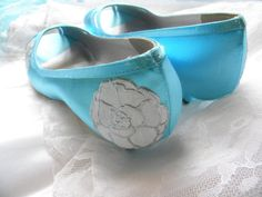 Wedding Shoes white peonies silver contour peep toes by norakaren, $225.00