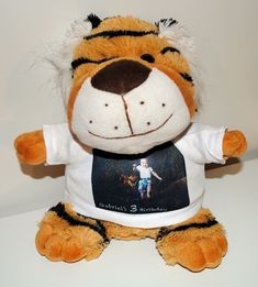 PERSONALIZED PLUSH TOY TIGER WITH YOUR PHOTO OR IMAGE #Unbranded Your Photos, Plush, Teddy Bear, Toys, Animals, Image, Activity Toys, Animales, Animaux