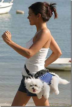 Best friends <3  (normally I would disapprove of the dog being carried like that but he looks happy XD)