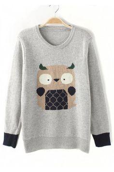Cartoon Printing Pullover Sweater