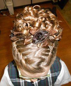 ballet recital hair | Braided updo for dance recital created by Amanda ... | Hair and nails