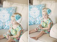 Chiffon Rosette Headband, girl headband, baby headband, photography prop