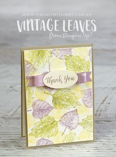 Could use Stampin' Up French Foliage