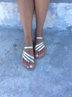 07b8396eb07 Greek Sandals Slip on Sandals Summer Flats Leather Sandals Boho Sandals