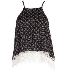 Black High Low Hemline Wrap Top ($26) ❤ liked on Polyvore featuring tops, shirts, tank tops, long shirts, black singlet, long black shirt, black wrap top and black shirt