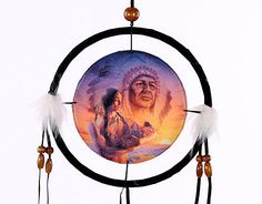 Decorative Native American Generations 16cm Dreamcatcher Dreamcatchers are a great way to add colour and design to your home or workplace Made from a