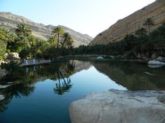 Oman | Reflections – The Magic of the Wadi. credit: ONA. see on Fb https://www.facebook.com/SinbadsOmanPocketGuide #Oman #travel #myOman #TravelToOman