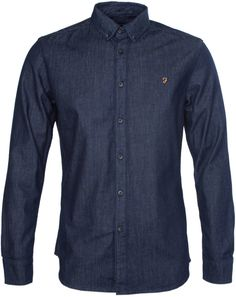 13f962da7770 Farah Mendes Dark Indigo Denim Shirt - ShopStyle
