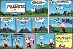 Vintage Peanuts  - November 29, 1959 - Snoopy, the mountain lion