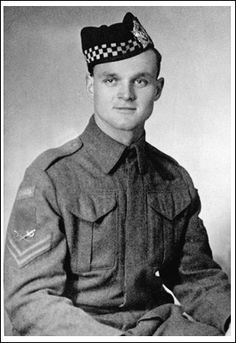 23 years old and a sergeant in The Queen's Own Rifles of Canada during the Canadian Army's involvement in the Second World War