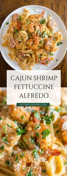 This Cajun shrimp fettuccine alfredo is packed full of flavor with a little Cajun twist. It's perfect for busy weeknights and you'll say goodbye to jarred sauces when you see how easy i Shrimp Fettuccine Alfredo, Seafood Alfredo, Pasta Alfredo, Cajun Shrimp Alfredo Recipe, Sausage Alfredo Recipe, Chicken And Shrimp Alfredo, Garlic Butter Shrimp, Alfredo Sauce, Cajun Recipes