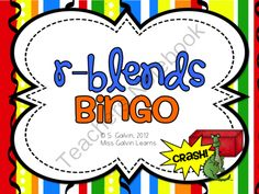 R-Blend Bingo from MissGalvinLearns on TeachersNotebook.com -  (41 pages)  - Practise r-blend words with the popular game, Bingo!