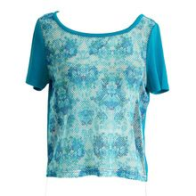 Jasi  Co JSDJ2281 Floral Mesh Top With Silky Fabric Wth Boob Tube(Strectch) Underneath US UK Size(China (Mainland)) visit http://www.jasiandco.com/