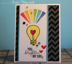 "nichol magouirk: SSS April 2014 Card Kit | ""You Brighton My Day"" Card (Video)"