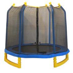 Upper Bounce 7' Indoor/Outdoor 'Classic' Trampoline & Enclosure Set   Overstock.com Shopping - The Best Deals on Trampolines