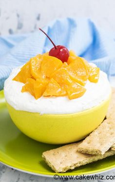 Peaches and cream dip