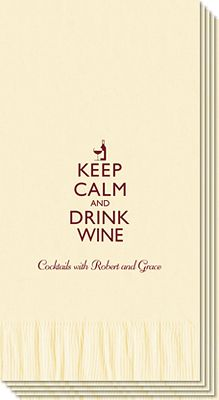 Keep Calm and Drink Wine Guest Towels