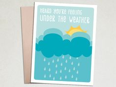 Under the weather - Get Well Greeting Card – The Imagination Spot