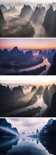 Clouds, Rivers, and Mountains Converge in Breathtaking Landscapes of Guilin, China: