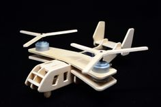 Chinook Helicopter Military Helicopter 3D Wooden Solar Powered Toy 3D Solar Power Biplane Aircraft Spinning Biplane Puzzle Legno di EdoCollection su Etsy