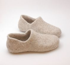 felted wool clogs