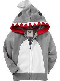 Transform a boring grey hoodie into a cool shark costume! Click on the image to find out how to make this at home today!