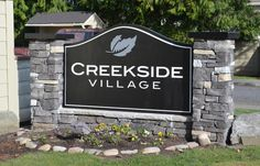 Double sided Monument Sign for Creekside Village in Vancouver, WA