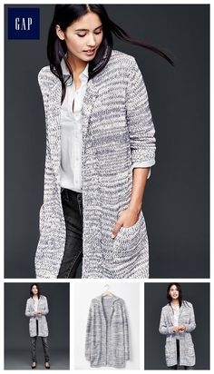 Marled long cardigan sweater I like the black one so much I am getting in this color too.