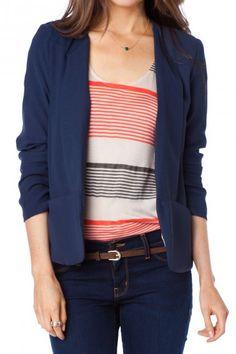 Martine Open Blazer in Navy #shopsosie