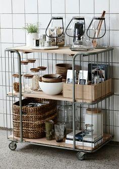 Beautifully organized cart