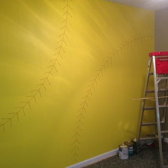 I reeaallyy want one of my walls to be softball yellow with red stiches
