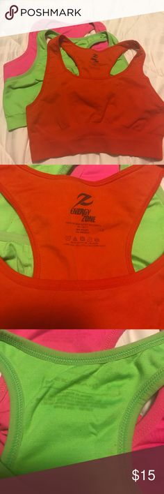 Group of sport Bras Set of 3 good condition sport bras- priced as a group all size large Intimates & Sleepwear Bras