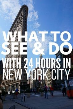 What To See & Do With 24 Hours In New York City. With so much to see and do in New York, you'll want lots of time...but, if you just have 24 hours, it's possible to see much of the Big Apple, check out our article to learn how.