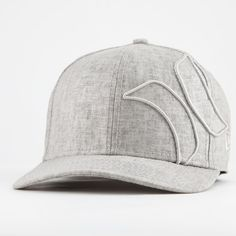 Textured light grey with tonal embroidery