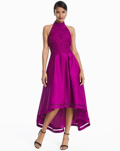 High-Low Lace And Satin Dress  WHBM   Designer Dresses