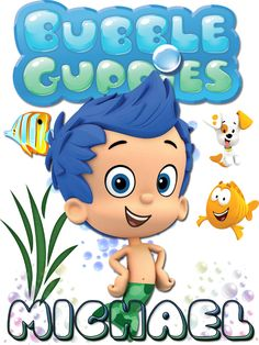 Personalized Custom NAME T-shirt Bubble Guppies Gil