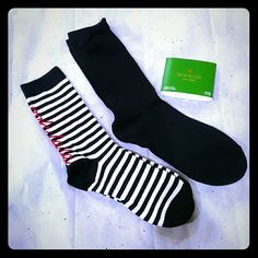 """SOLD SOLD SOLD NEW Kate Spade Socks *2 Pairs ( One says """" lalalala"""" ) kate spade Accessories Hosiery & Socks"""
