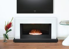 Adam Carrera White & Black Electric Fireplace Suite | Fireplace World