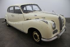 1954 BMW 501  1954 BMW 501 sedan, creme with grey interior, very original and rare car to find, missing the motor and transmission, an excellent candidate for restoration and a great addition to any collection. For only $18,750  If you have any additional questions Please call 310-975-0272