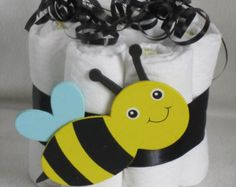 Mini diaper cake baby bumble bee great decoration, baby shower or new baby gift
