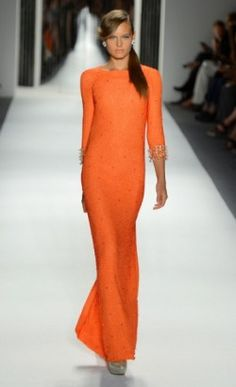 Bright neon colors | Jenny Peckham S/S 2013. A brighter shade of coral would bring out the color a little better.