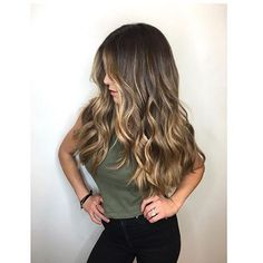 Trendy Hair Highlights : Gorgeous long brunette hair with rich blonde balayage hair color scorpioscowl. Grey Balayage, Hair Color Balayage, Bayalage Color, Balayage Brunette Long, Sunkissed Hair Brunette, Hair Colour, Bayalage Light Brown Hair, Brunette With Blonde Balayage, Brown Balyage