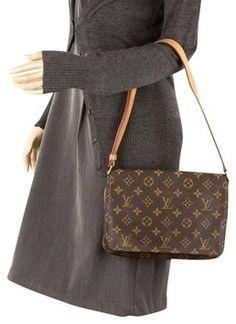 5814e11d78ef Musette Tango M51257 Lv 7132 Brown Monogram Canvas Leather Shoulder Bag. Louis  Vuitton ...